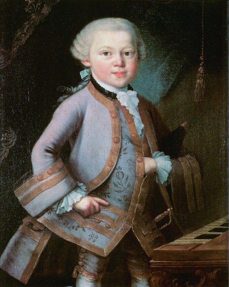Young Mozart and the five tests